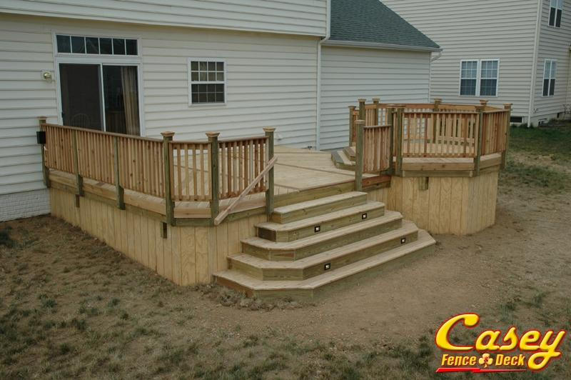 Wood Deck Projects Casey Fence And Deck Llc