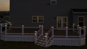 Fiberon Deck with Bluetooth Controlled Lights in Frederick Maryland