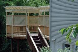 Custom Octagonal Pergola with Privacy Lattice