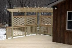 Pergola with Lattice for Shade and Privacy in Boonsboro MD