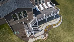 Fiberon Composite Gray Birch Decking