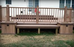 Custom Bench and Planter Boxes