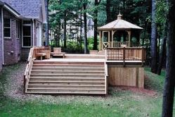 Large Treated Deck with Cedar Rails in Frederick Maryland