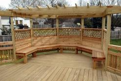 Octagon with Built In Wrap Around Cedar Bench in Walkersville