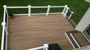 400 Square Foot Low Maintenance Composite Deck in Hagerstown Maryland