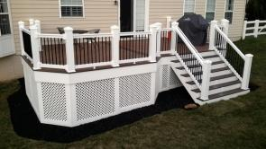 400 Square Foot Mid Level Deck in Middletown Maryland