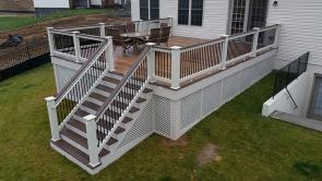 500 Square Foot Mid Level Fiberon Ipe Deck in Monrovia Maryland