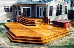 900 Square Foot Multiple Level Deck in Silver Spring Maryland