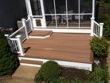 Fiberon IPE and Rosewood Deck with Platform