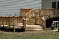 Multi level cedar spa deck