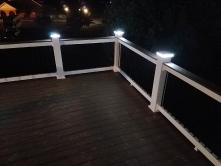 Fiberon composite deck in Boonsboro MD with LED post cap lights
