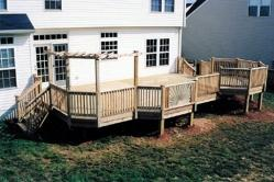 Large Treated Deck with Bump Out in Frederick Maryland