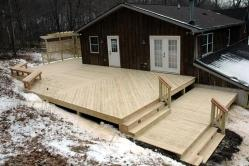Multiple Level 1000 Square Foot Treated Deck in Boonsboro Maryland