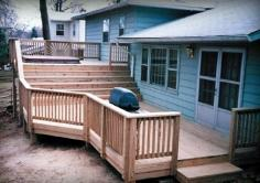 Multiple level treated deck