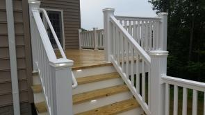 Treated Wood Deck with Low Maintenance Railing in New Market MD