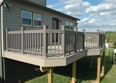 Upper Level Deck with Matching Railing