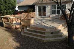 Western Red Cedar Deck with Many Features in Gaithersburg Maryland