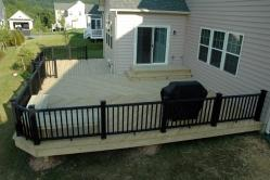 650 square foot lowered treated deck in New Market Maryland