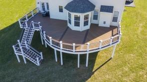 800 Square Foot Fiberon Composite Deck in Frederick MD