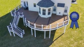 Award Winning 800 Square Foot Fiberon Deck in Frederick MD