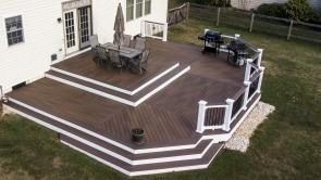 Award Winning Fiberon Composite Bungalow Deck in Middletown MD