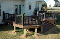 Custom Azek Deck with Timbertech Black Radiance Rail in Adamstown Maryland
