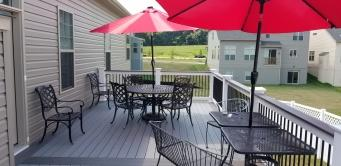 Fiberon Cottage Gray Deck in Landsdale Development