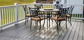 Fiberon Gray Birch Composite Deck in Brunswick Crossing