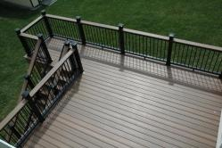 Fiberon Horizon Black Mission Railings in Adamstown Maryland