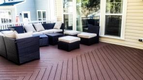 Ground Level Fiberon Good Life Cabin Brown Composite Deck with Chestnut Border