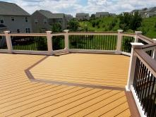 Lake Linganore Deck with Octagon and Chestnut Border
