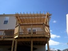 Pressure Treated Deck with Cedar Rails in Brunswick Maryland