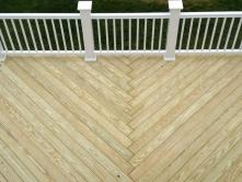 Treated Deck with Herring Bone Basket Weave Board Pattern in Brunswick Maryland