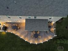 Circular Grand Piano Style Deck with Custom Lighting in Frederick MD