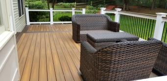 Low Ground Deck with Fiberon Horizon IPE decking in Frederick Maryland