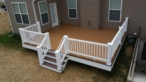 320 Square Foot Fiberon Good Life Villa Deck in Hagerstown Maryland