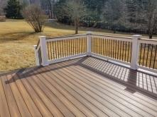 Mount Airy Maryland Deck with White Vinyl Rails and Black Balusters