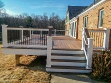 Staircase on Deck in Mount Airy Maryland