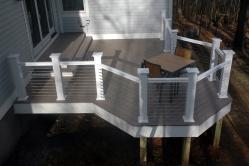 Composite Deck Provides Non Obstructed View in Monrovia Maryland