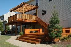 550 Square Foot Western Red Cedar Deck in Walkersville Maryland