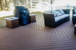 Herringbone Basket Weave Deck with Planter Boxes