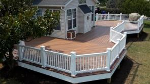 1200 Sq Ft Low Level Composite Deck