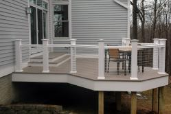 Azek Silver Oak PVC Deck in Monrovia Maryland