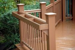 Beautiful PVC Deck Railing with Planters