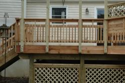 Custom Cedar Railing and Storage Space in Walkersville MD