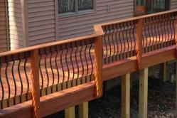 Real Brazilian Cherry Wood Rail Posts in Jefferson Maryland