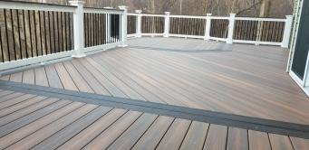 500 square foot low maintenance composite deck in Union Bridge Maryland