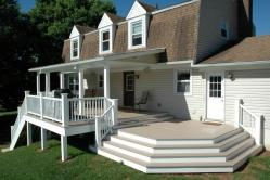 Beautiful Deck with Staircase Octagon