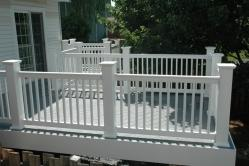Gray Composite Deck with White PVC Posts