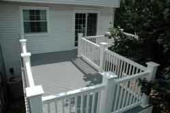 PVC Deck with White Superior PVC Rail